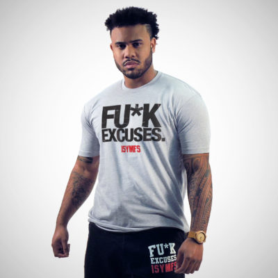 FU*K EXCUSES T-SHIRT (DISTRESSED STYLE)