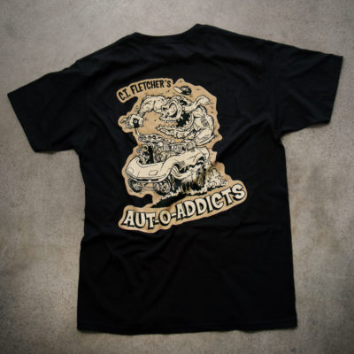 "C.T. FLETCHER's AUT-O-ADDICTS ""Otto"" T- Shirt & Sticker"