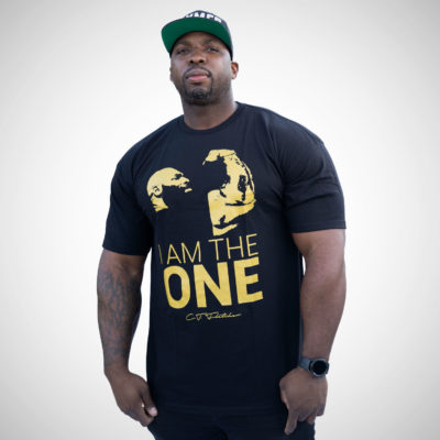 I AM THE ONE T-SHIRT (shimmer gold print)